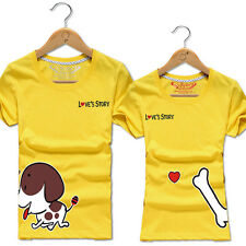 Hot Animal Loyalty Lovers clothes for men and women couple t-shirt short-sleeved