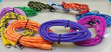 10ft 6ft 3ft  Braided 8pin USB Charger Data Sync Cable for iPhone 5 5C 6