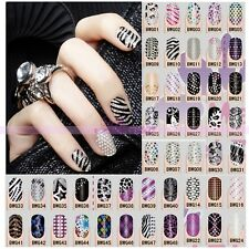 3D Acrylic Nail Art Stickers UV Gel Foils Glitter Polish Decals Designs Styles