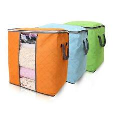 50L Bamboo Fiber Clothes Pillow Quilt Blankets Storage Bags Case Container Boxes