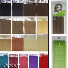 "Beauty 16""-24"" Double Tape In Remy Human Hair Extensions Silky Straight 19Colors"