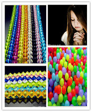 Free NEW 400PCS Acrylic Beads Mixed colors Rondelle Round Spacer Loose beads 6mm