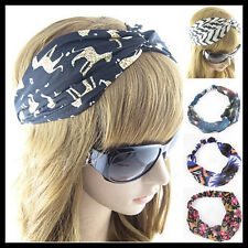 Chic Women Chiffon Turban Twist Head Wrap Headband Twisted Knotted Hair Band