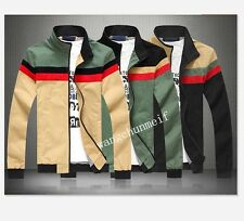 2014 Spring new men's casual stand-up collar stitching jackets coats Outerwear