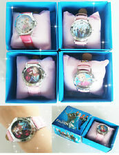 New Disney Frozen Anna Elsa Children Wristwatch Watches With Boxes Party Favors