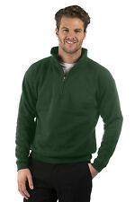 Mens/Ladies Quarter Zip Sweat Jacket, Size XS to XXXL, Colour Bottle Green