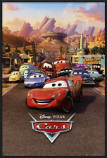 "CARS - FRAMED DISNEY / PIXAR MOVIE POSTER / PRINT (REGULAR) (SIZE: 24"" X 36"")"