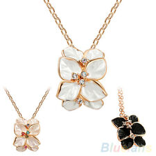Women's New Charm Multilayer Gardenia Flower Decor Choker Chain Short Necklace