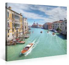 Stretched Canvas Print - GRAND CANAL Large Venice Cityscape Wall Art s3651