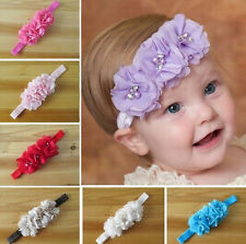 Baby Girl New Toddler Infant Flower Headband Hair Bow Band Accessory Photography