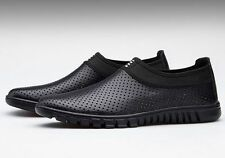 Plus Size Summer Mens Hollow Breathable Low Casual Shoes Slip On Loafers Fashion