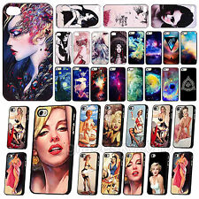 New Sexy Bueaty Girls Painted Universe Hard Back Case Cover for IPhone 4 4S 5 5S