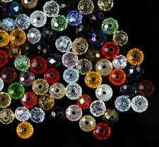 4-10mm Mixed-color Bicone Crystal Loose Beads Synthetic Quartz DIY 70&100 Pcs
