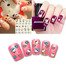 New Hot Sale 3D Cute Hello Kitty Drecorate Nail Art Manicure Tips Paper Stickers