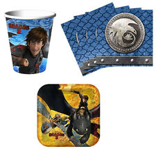 How to Train Your Dragon 2 Birthday Party Supplies Kit Tableware Set for 8 or 16