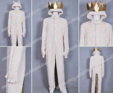 Where the Wild Things Are Cosplay Wolf Max Records Costume Hoodie Jumpsuit Coat