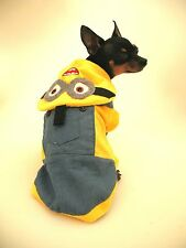 Small dog pet Chihuahua jacket coat hood Minion coat Despicable me  XS, M