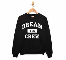 DRAKE DREAM CREW SWEATSHIRT MENS WOMENS SWEAT TOUR OFFICIAL ISSUE WEEKND TOPSZN