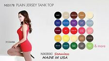 Jersey Tank Top/ Nikibiki Made in USA/ 92% Nylon 8% Spandex NEW COLORS AVAILABLE