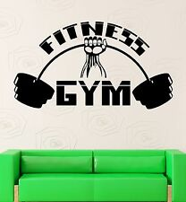 Wall Sticker Vinyl Decal Fitness Gym Sport Bodybuilding Barbell Muscled (ig2191)