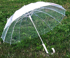 Automatically open umbrella skeleton win-Transparent Clear Dome contracted 16K