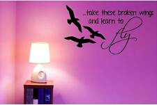 "Beatles Wall Decor - Blackbird | Music Song Decal / Sticker - 20""x11"" [BB3]"