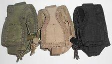 Condor MA56 HHR Pouch Hand Held Radio Pouch Small MOLLE OD Black Coyote Tan