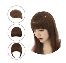 New Fashion Girls Clip on Front Neat Bang Fringe Hair Extensions 3 Colors