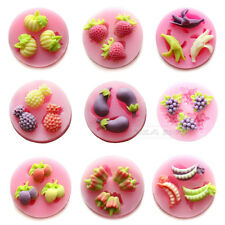 Fruit Shape Pastry Candy Chocolate Cookie Soap Craft Silicone Mold Bakeware Bar