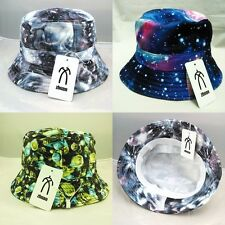 Unisex Bucket Hat Boonie Galaxy Planet Hunting Fishing Outdoor Cap Sun Hats New
