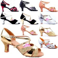 Women Ballroom Latin Tango Adult Brillante Glitter Waltz Heels Salsa Dance Shoes