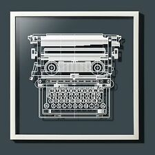 Paper-cut Antique Typewriter Paper Art Original Design IDEAL GIFTS Framed