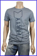 Mens Burton Novelty Funny Party Crew Neck T-Shirt - Grey Cotton - S,M,L,XL