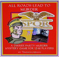 HOST A 79AD ANCIENT ROMAN MURDER MYSTERY DINNER PARTY GAME ~ for 12-16 players