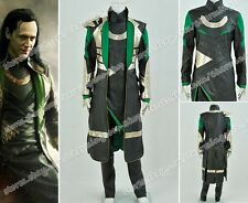 Thor 2: The Dark World Loki Cosplay Movie Costume Artificial Leather Outfit Cool