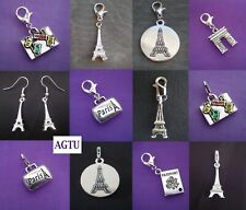 PICK YOUR TOWER Clip On Tower Paris Eiffel France Charm or Drop Hook Earrings