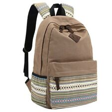 Vintage Unisex Women Canvas Travel Satchel Shoulder Bag Backpack School Rucksack