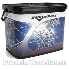 Boditronics Mass Attack Evo 4000g 4kg Lean Weight Gainers Performance