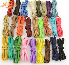 50colors 10 Meters Korea Faux Suede Flat Leather Cord Lace - String 3mm×1.5mm