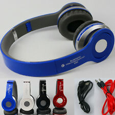 Wireless Bluetooth Stereo Headphones + Mic&FM Radio for PC Cell Phones Notebook