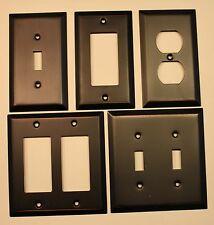 Switch Plate Outlet Cover Wall Rocker Oil Rubbed Bronze Retail Packaged NEW