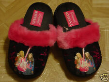 Hannah Montana Young Girls Black & Hot Pink Slippers Sizes 9, 10, 12, 3