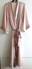 EX STORE SHEER  SATIN TRIMMING DRESSING GOWN/ROBE UK SIZES 8/10, 10/12 12/14