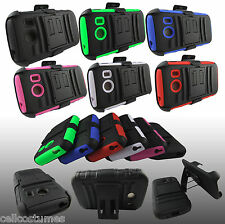 For Samsung Galaxy Ace Style S765C Rugged Armor Case Cover & Belt Clip Holster