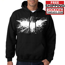 DARK KNIGHT RISES HOODIE Hooded Sweatshirt Joker Robin Symbol DC Comics Batman