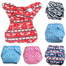 Hot Baby Infant Printed Cloth Diapers Reusable Nappy Washable Inserts Snap Cover