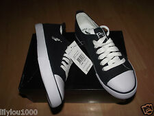 POLO RALPH LAUREN NAVY HARBOUR CANVAS TRAINERS CHILDS  NEW IN BOX