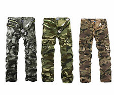 TACTICAL MEN CASUAL MILITARY ARMY CAMO CARGO COMBAT WORK PANTS TROUSERS IN SIZES