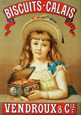 6715.Biscuits-calais vendroux.girl with cookies in box.POSTER.art wall decor