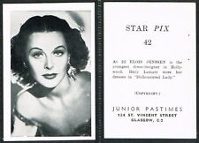 Junior Pastimes - Star Pix 1951 #1 to #80 UK Film/Movie Cards (from £1.70 each)